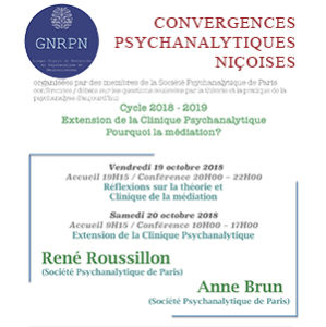 Convergences Psychanalytiques Niçoises 2018