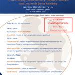 Affiche Conférence Benno Rosenberg 2017