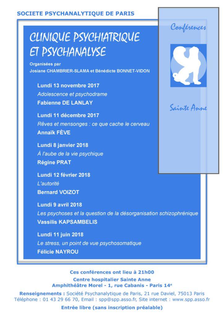 Conférence Sainte Anne 2017-2018