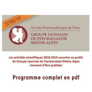 Groupe lyonnais - Activités scientifiques - 2018-2019