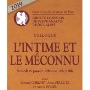 GLPRA Colloque L'intime et le méconnu 2019