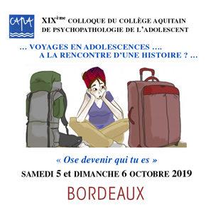 CAPA - XIXe Colloque du collège aquitain de psychopathologie de l'adolescent - 2019