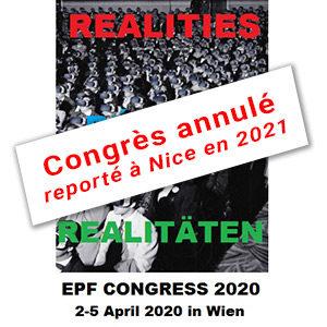 Annulation du Congrès de l'EPF à Vienne en 2020